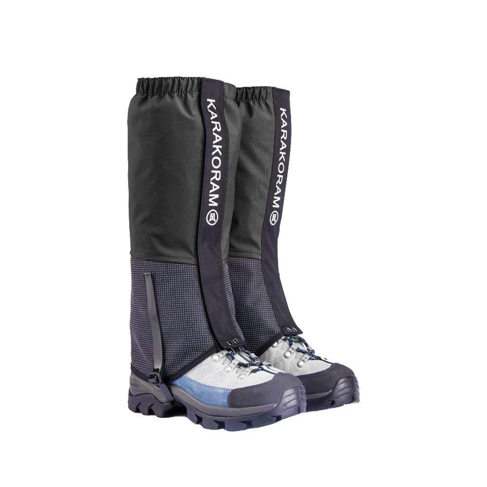 Highlander Classic Gaiters Waterproof Outdoor Hiking Walking Hunting Snow Black