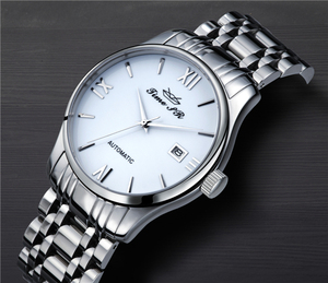 NH35 Japanese movement stainless steel automatic skeleton watch 2017