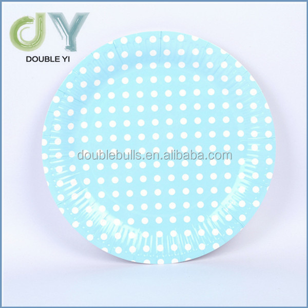 Top quality Custom disposable party paper plate, eco-friendly paper plate