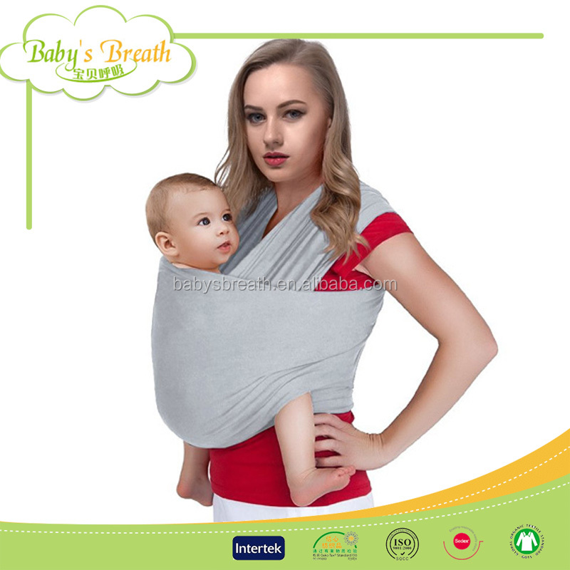 BC02 Soft Organic Printed Cotton Baby Wrap Carrier