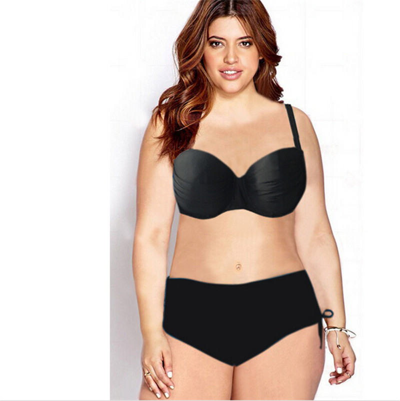1ebf317229 Get Quotations · 3XL Big size Underwire Top for Big and Beautiful Women  high waist bikini Swimsuit Plus Size
