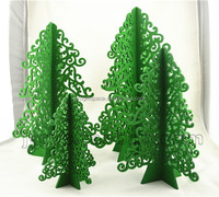 2017 newest hotsell eco friendly handmade wood crafts Christmas ornament decoration stand wooden christmas tree made in China