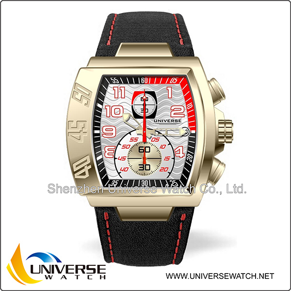 Wholesale water resistant watch for men with leather band accept paypal UN4057G-03