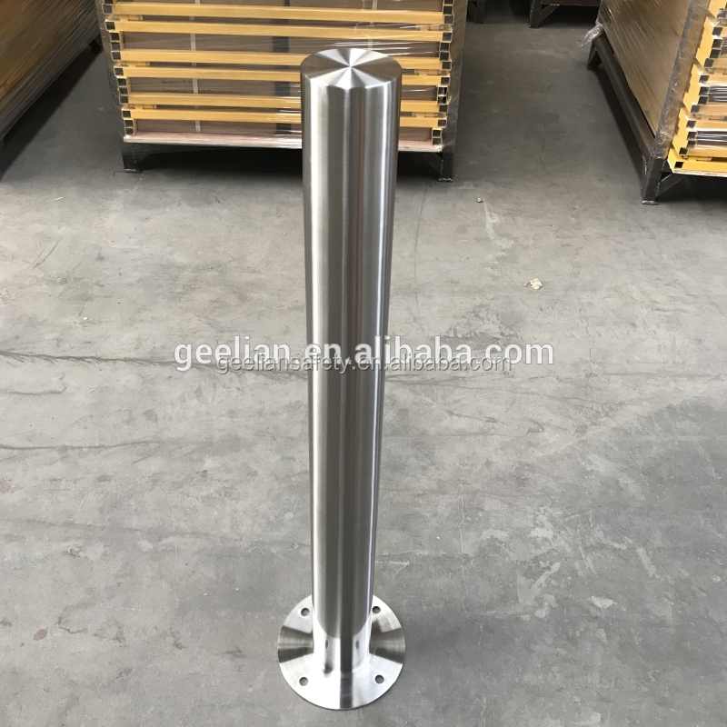 Manufacturer Carbon Steel Metal Traffic Manual Surface Mounted Removable Bollard For Vehicle Access