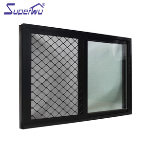 Anodized aluminium alloy new style sliding mesh window with flyscreen