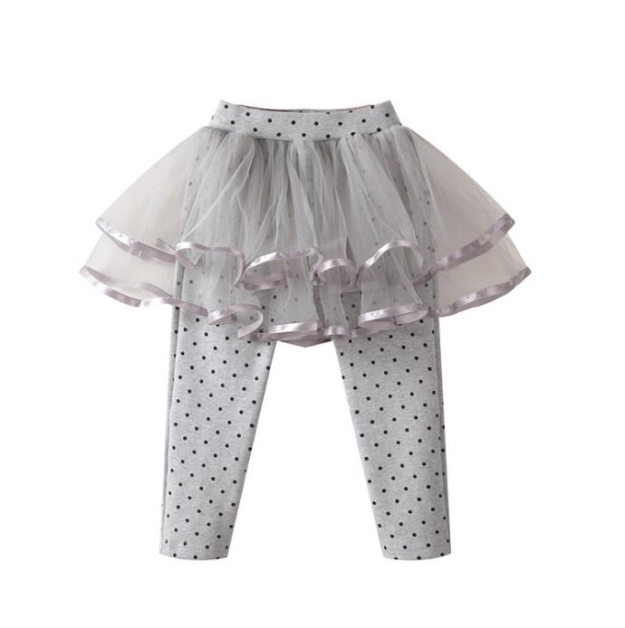 82203bfaaa ... Leggings pantalones como imagen. 0 vendidos. Los niños Dotted patrón  suposición de algodón suave Mini hadas delgada tul falda de gasa