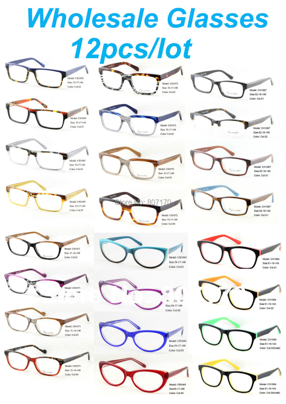 0ce36cf29c1b Free shipping 2012 New Arrival  Top brand acetate eyeglasses frames  Wholesale  optical frames 12pcs lot