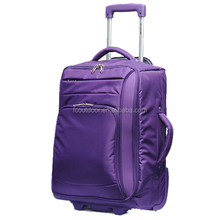 19 Inch Nylon Soft Lightweight Ultra Light Luggage With 2 Wheels