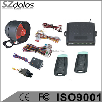 One way car security alarm system alarme de voiture with trunk release function