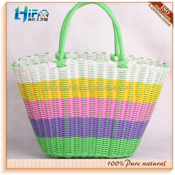 Hifa Plastic Straw Bag Pp Woven Beach