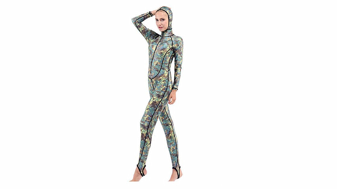 bce6848dd3 Get Quotations · AZSHARAA new camouflage snorkeling suit sunscreen jellyfish  long sleeve wetsuit swimming suit XS S M L XL XXL