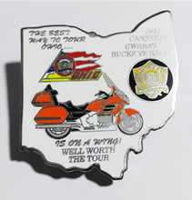 Newest design custom offset printed lapel pins