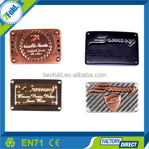 High Quality Leather Jeans Label