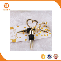 Heart of Gold fashion style bottle stopper bridal shower favor and gift
