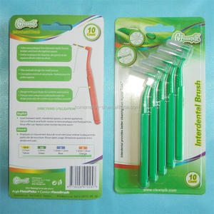 L shape angle interdental brushes, remove trapped food and plaque easily