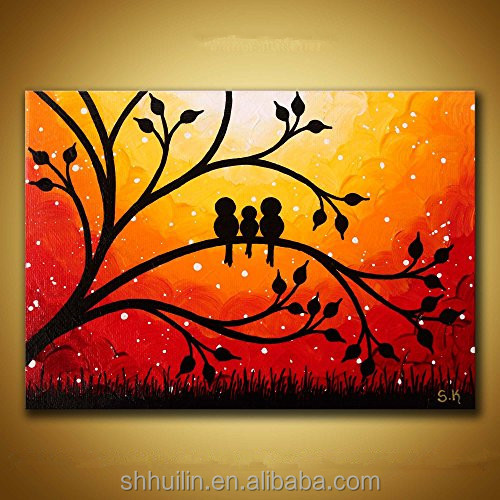 morden diy easy wall oil art painting canvas outdoor