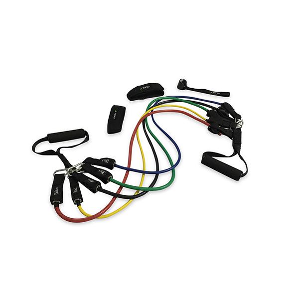 TOPKO Fitness training latex home gym resistance tube exercise set, Pantone color