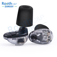 Rooth High Fidelity Digital Dual Switch Hearing Protection Shooting Earplugs, Electronic Hunting Ear Plugs