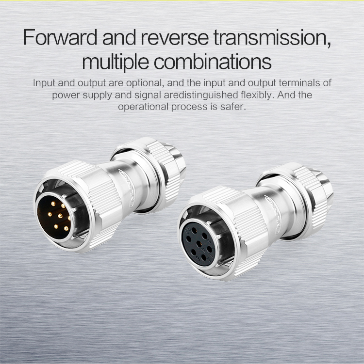 9-pin plug and socket connector, Car electric vehicle power supply installed ip67 waterproof connector