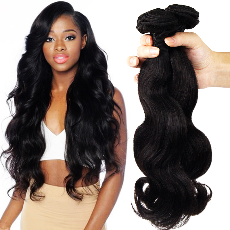 Factory Price Wholesale 9A Grade 100 Remy Virgin human hair Body Wave Hair Bundles for black women