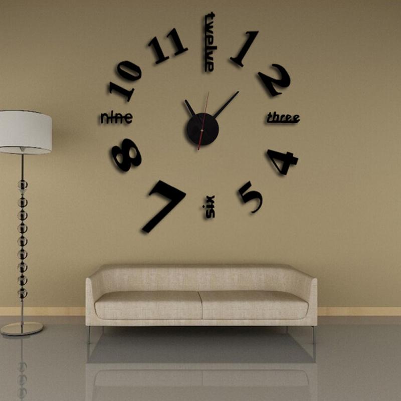 3d klok wandklokken klok de pared horloge grote decoratieve diy ...
