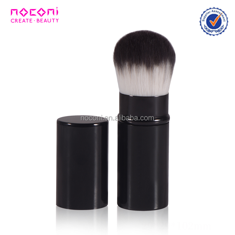 Professional cheap nylon hair makeup brush aluminum cosmetic powder brush