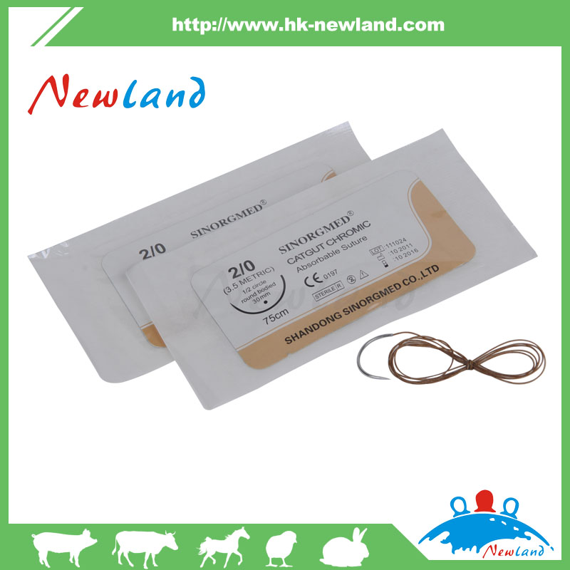 2016 NEW HIGH QUALITY 50m lowest chromic catgut for animal veterinary poultry