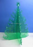 Desktop decorative acrylic perspex christmas tree / plexiglass christmas tree for decoration