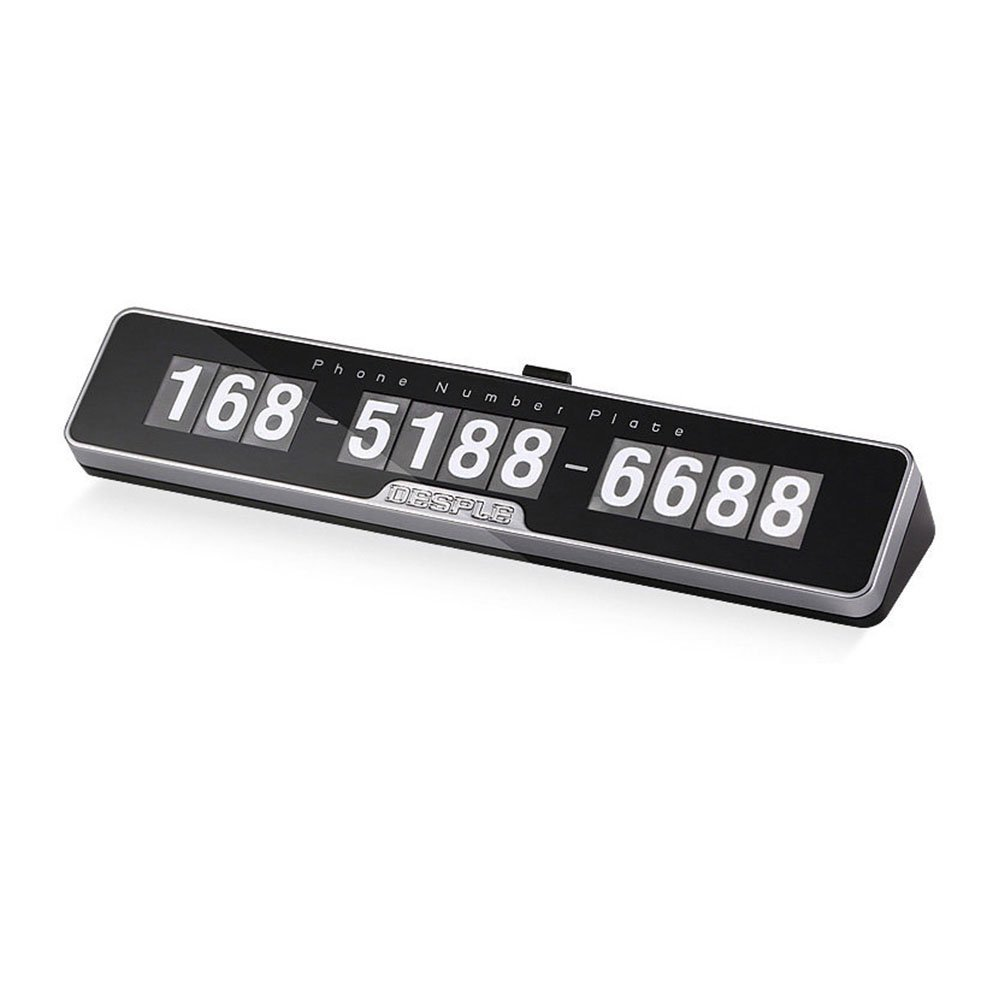 HaloVa Temporary Parking Card, Universal Creative Temporary Car Phone Number Card Plate, Privacy Protection Hidden Mobile Phone Number Plate, Automotive Interior Accessories, Black