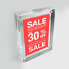 Free Standing a4 Acrylic Two Sides Photo frame Perspex Picture Block Multi Photo Frame