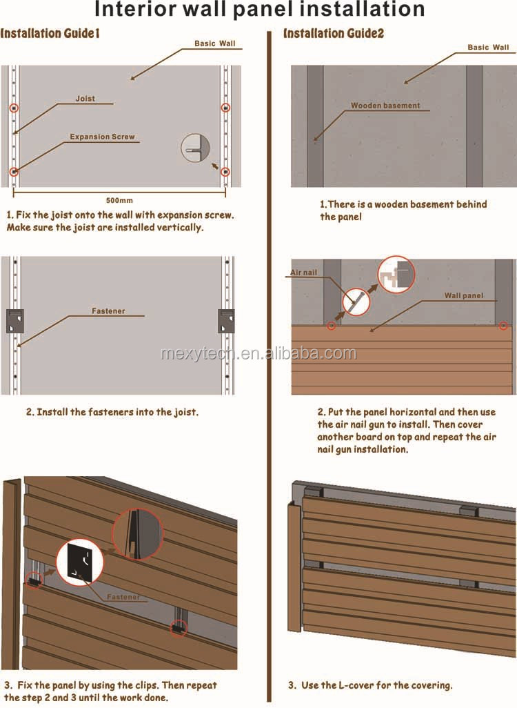 Whole Water Proof Interior Composite Wood Wall Paneling