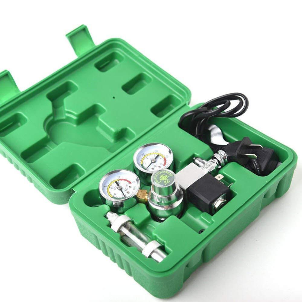 Brown Sugar Aquarium CO2 Regulator 110V Magnetic Solenoid Valve with 2 Gauge Bubble Counter Aquarium
