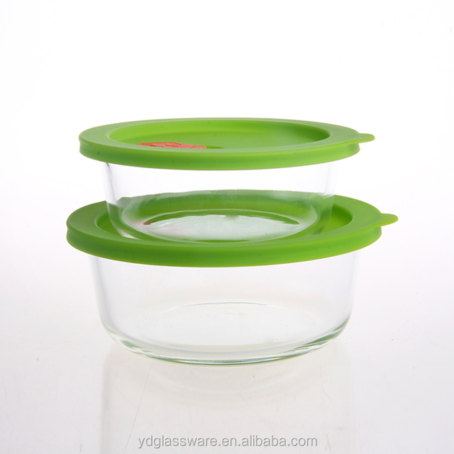 glass container silicone lid Source quality glass container silicone