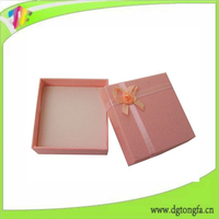 High quality custom made Velvet Jewelry Box/gift box packaging for women