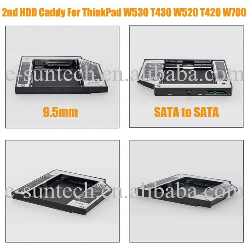 2nd Hard Drive Caddy For Lenovo W520 T420 T530 T430