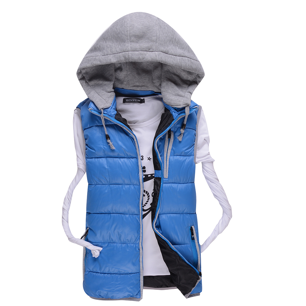 2015 Spring Autumn Mens Waistcoat Fashion Vest Jacket Mens Warm Waistcoat Male Outwear Vest Down&Cotton Jacket For Man#S908
