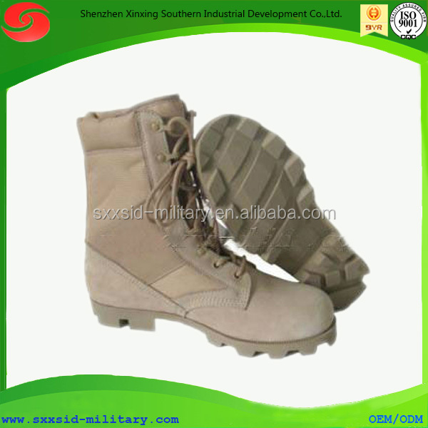 iso certified new design anti-slip water proof cheap yellow combat boots