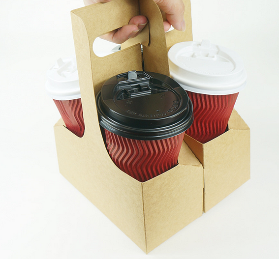 Take Away Disposable Corrugated Paper Coffee Cup Drink