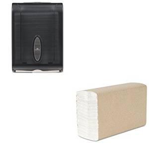 KITGEP5665001KIM02920 - Value Kit - KIMBERLY CLARK SCOTT Recycled C-Fold Hand Towels (KIM02920) and GP 566-50/01 Translucent Smoke Combination C-Fold or Multifold Paper Towel Dispenser (GEP5665001)