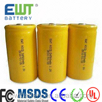 EWT Brand OEM/odm size 1.2V A AA AAA 2/3AA 2/3AAA SC 4/5SC sc C D /F/9v NICD rechargeable battery made in china