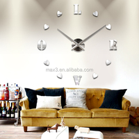 Max3 factory list of import export companies mirror clock for home decoration