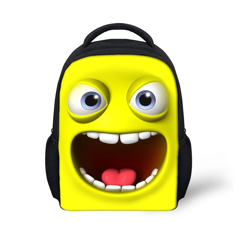 Get Quotations · 12 Inch Emoji Smile Printing Backpack Cute Mini 6 Color Children  Backpacks for Teenage Girls Casual 293a33dba6