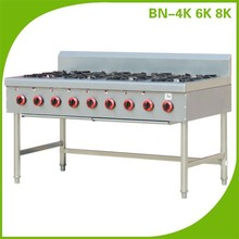 Chinese Restaurant Equipment Long Gas 8 Burner Cooking Range With Cheap Price