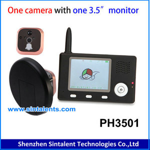 "5"" TFT Touch panel digital door peephole viewer with GSM mobile communication function GSM peephole viewer"