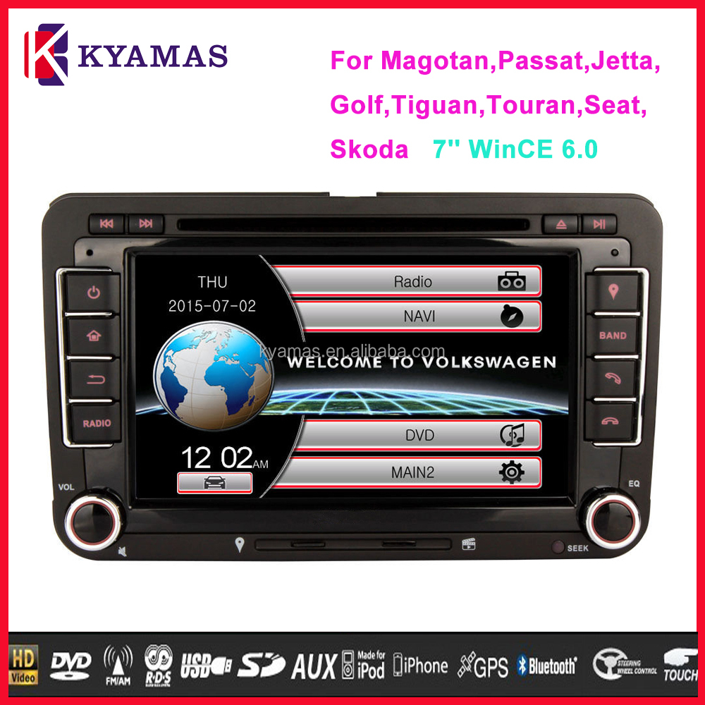 Original UI HD Touch Screen Car GPS Navigation Audio System 7 Inch for VW Magotan,Passat,Jetta,Golf,Tiguan,Touran,Seat,Skoda