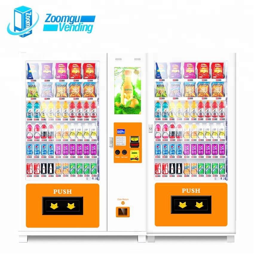Zoomgu interactive fresh milk milkshake Combo Snack/Drink Vending Machine