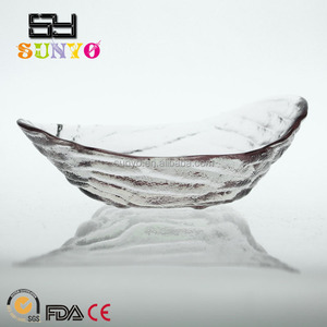 Centrifugal Leaf Shaped Glass Bowl And Dish