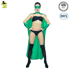 Wholesale Adult Costume Sexy Costume Green Cape