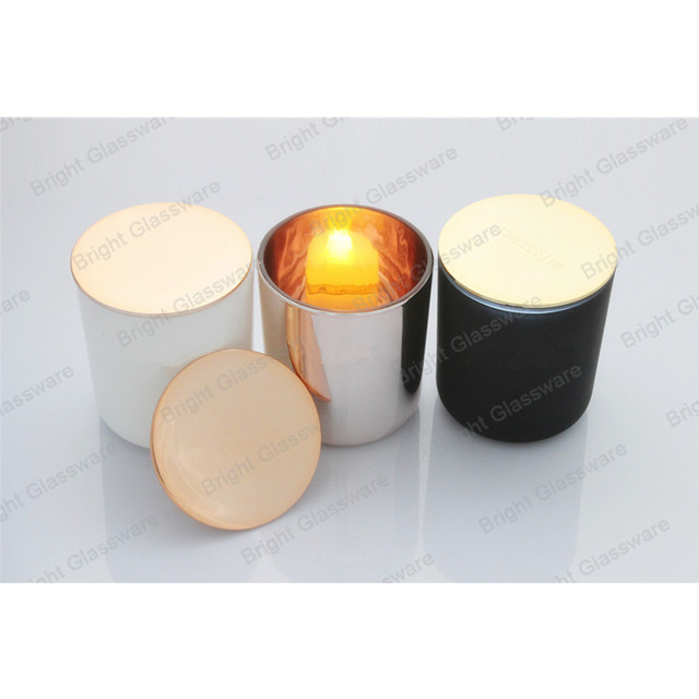 New Products Bulk Gl Rose Gold Candle Holder Votive Jar With Lids