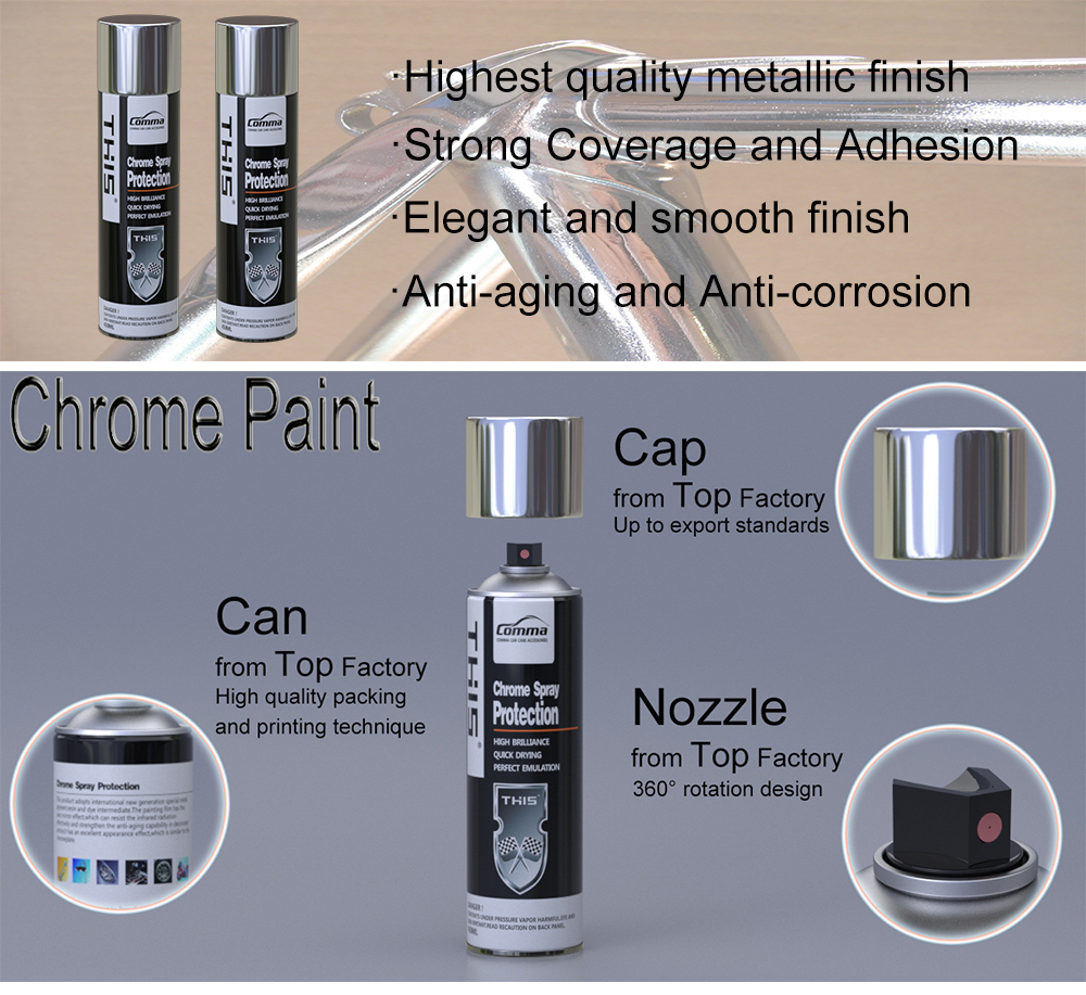 coating kit voiture epoxy acrylic liquid chrome rubber aerosol metallic color cellulosic paint paramagnetic paint